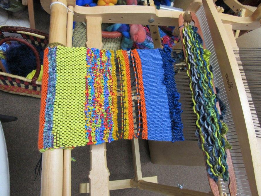 Beginning of Day 4 Saori Weaving Class.