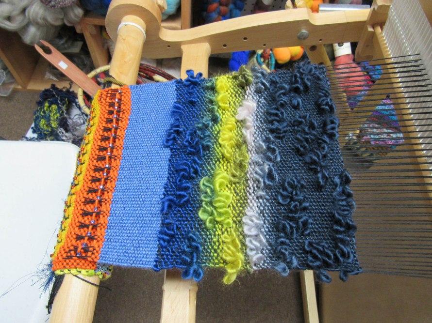 End of Day 4 Saori Weaving Class