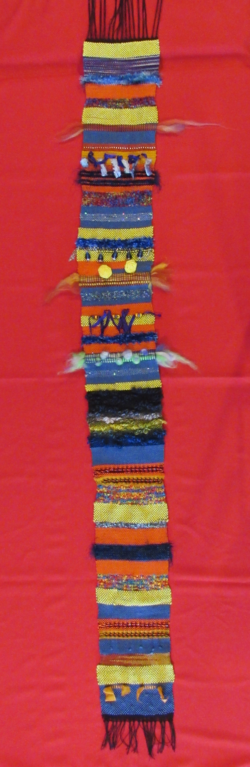 My finished project in Saori Weaving.
